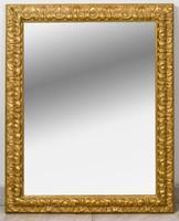 Szecessziós fakeretes tükör