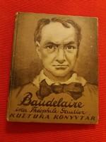 Antik első kiadás mini könyv Gautier  : Baudelair Tóth Árpád fordítása RITKA