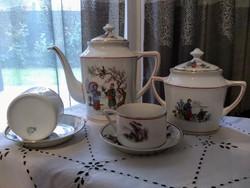 T Unión két személyes teás, japán motívumokkal