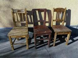 Tör fa paraszt székek, 6db