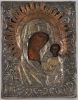 Antik ikon, Kazanyi Istenanya, 19. sz. oklad borítással
