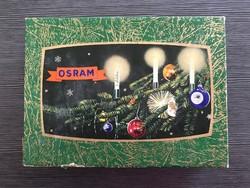 Antik Osram karácsonyi izzósor, fényfüzér, égősor