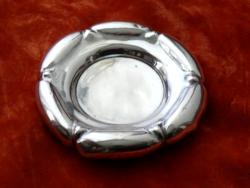 Virágot formázó ezüst gyűrűtartó tálka / hamutál, Bécs,1860 (átm.: 12 cm, súly: 89 g)