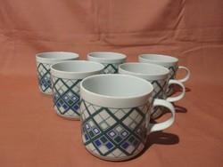 6 db Alföldi bögre, csésze