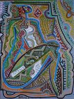 Kozma István - Akt 80 x 60 cm olaj, vászon