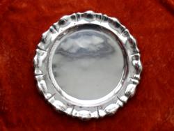 Nagy méretű ezüst tálca, hólyagmintás szélű, 1920-as évek, dianás magyar fémjel, átm. 35,5 cm, 730 g