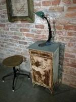 Korházi fém szekrény, 1920-as évekből loft, vintage industrial