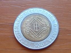 OLASZ 500 LÍRA 1993 1893-1993 100 ÉVES AZ OLASZ BANK BIMETÁL #