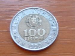PORTUGÁLIA 100 ESCUDOS 1990 #