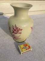 Retro Hollóházi porcelán virágos váza