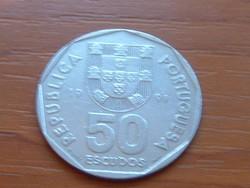 PORTUGÁLIA 50 ESCUDOS 1991 VITORLÁS #