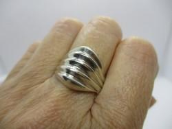 Szép  nagy kézműves ezüst gyűrű