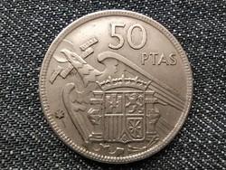 Spanyolország Francisco Franco (1936-1975) 50 Peseta (csillagban 67) 1957 / id 15871/