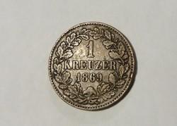 Baden, 1 Krajcár 1869.