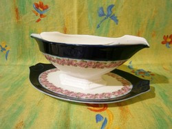 F_008 Nagyon szép MZ Austria Alt wien porcelán szószos kínáló tál
