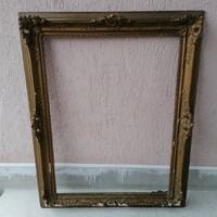Antik blondel képkeret javításra , falc 80x60 cm