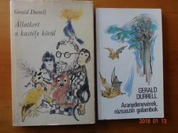 Gerald Durrell két könyve együtt: Állatkert a kastély körül + Aranydenevérek, rózsaszín....