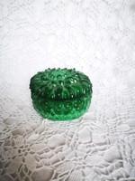 Cseh malachit üveg ékszertartó vagy bonbonier
