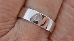 Elegáns brilles art deco ezüst gyűrű