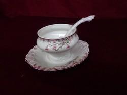 Antik minőségi német porcelán szószos tál ( tető nélkül), kanállal. vitrin minőség.