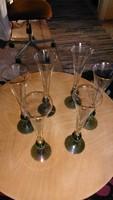 Kristály elegáns régi pezsgős poharak