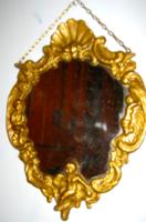 Barokk puttós réz  tükör
