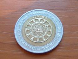 THAIFÖLD 10 BAHT 2009 BE2552 a Nemzeti Kutatási Tanács 50. évfordulója BIMETÁL #