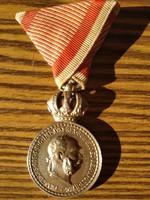 Ferenc József ezüst signum laudis kitüntetés