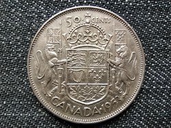 Kanada II. Erzsébet .800 ezüst 50 Cent 1953 / id 16041/