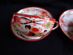 Régi japán tojáshéj porcelán teás szett
