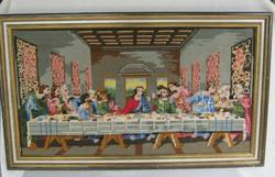 Az utolsó vacsora kézi gobelin fali kép szentkép