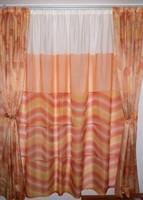 Akció !!! Függöny szett narancs színekben