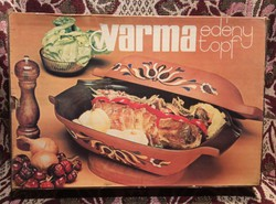 G_001 Városlődi majolika sütőtál Warma eredeti dobozában