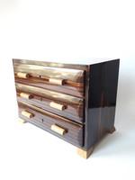 Retro ékszeres szekrény - art deco mini komód - miniatűr fiókos szekrényke
