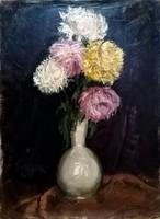"""Molnár Z. János(1880-1960  ) """"  Virágok vázában..!!"""