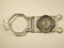 Retro alumínium tojás szeletelő - alu tojásszeletelő - 1970-es évekből