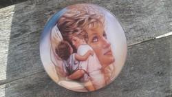 Lady Diana  porcelán emléktányér