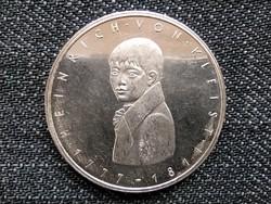 Németország 200 éve született Heinrich von Kleist .625 ezüst 5 Márka 1977 G / id 16061/