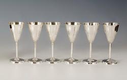 Ezüst pezsgőspohár készletben
