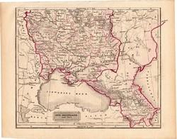 Dél - Oroszország (Európa), térkép 1840 (2), német, atlasz, eredeti, 23 x 29 cm, Fekete tenger