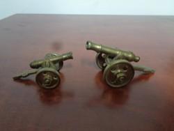 Két aranyos réz ágyú makett párban eladó