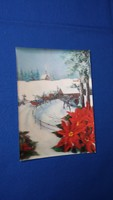 Régi háromdimenziós karácsonyi képeslap
