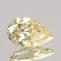 0.18Cts Természetes Kezeletlen Gyémánt Fancy Sárga Csepp/Körte Forma