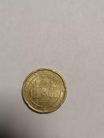 Ritkább euró 20 cent ausztria 2010