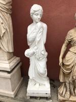 Szecessziós női márvány szobor