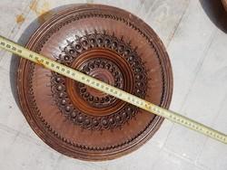 Nagy kerámiatál, 29-32 cm átmérővel, jelzett