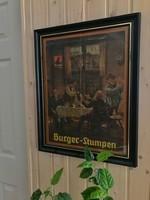 Burger-Stumpen | Német reklámplakát 1955-ből