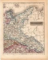 Északkeleti Német nemzetállamok térkép 1840 (2), német ny., atlasz, eredeti, Pesth, 23 x 29 cm, régi