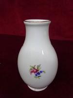Hollóházi porcelán mini váza, 11,5 cm magas.