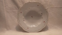 Pajzspecsétes Zsolnay porcelán tollazott mélytányér pótlásra